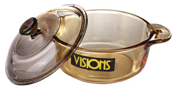 Nồi thủy tinh Visions 0.8L VS-08 thiết kế tiện dụng.