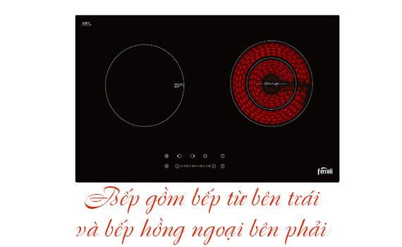 Bếp điện đôi Ferroli IC4200BN có thể nướng trực tiếp trên mặt bếp hồng ngoại