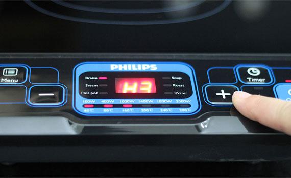 Bếp điện từ Philips HD4921 trang bị màn hình KTS