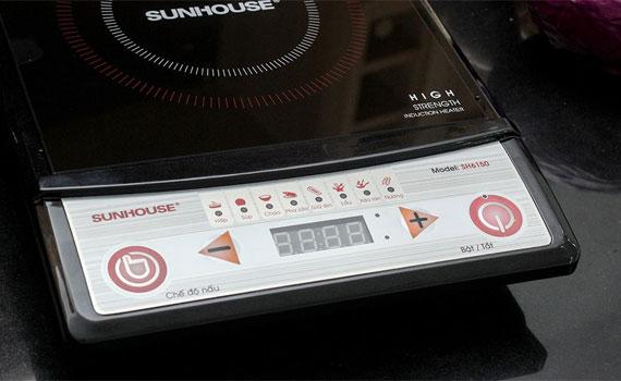 Bếp điện từ Sunhouse SH6150 nhiều chế độ nấu tiện lợi