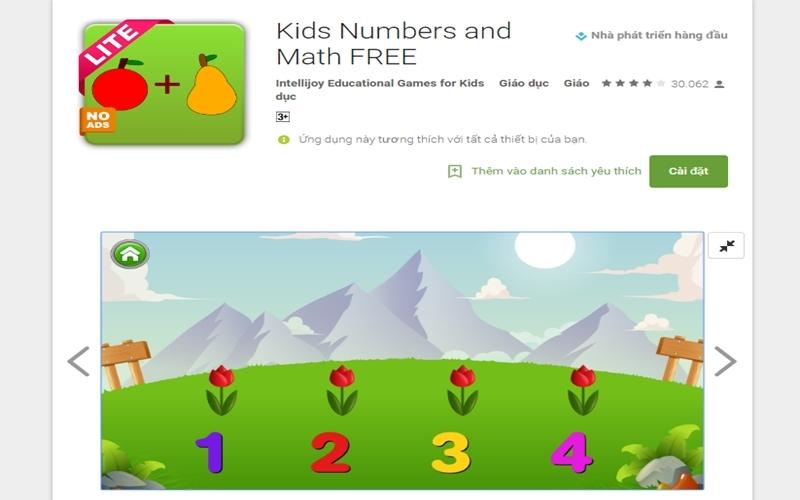Các kĩ năng toán học của bé được rèn luyện tốt hơn