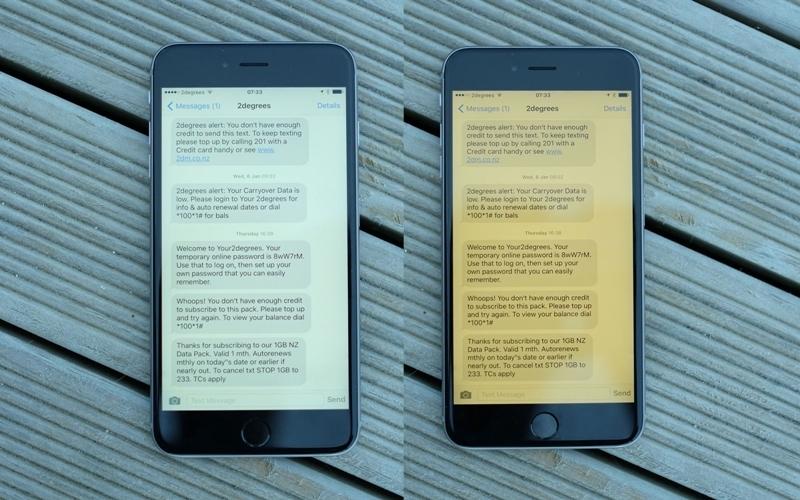 Ánh sáng vàng ấm đã được trang bị trên iPhone trước đó