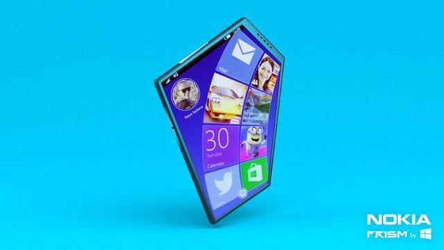 Xem concept Nokia Prism táo bạo phi thường với màn hình 5 góc