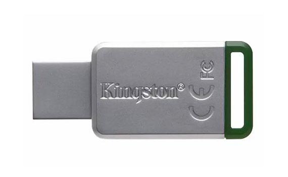 USB Kingston 16GB DT50 màu trắng xanh nhỏ gọn, chắc chắn