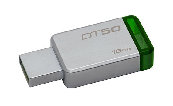 USB Kingston 16GB DT50 màu trắng xanh dung lượng khủng