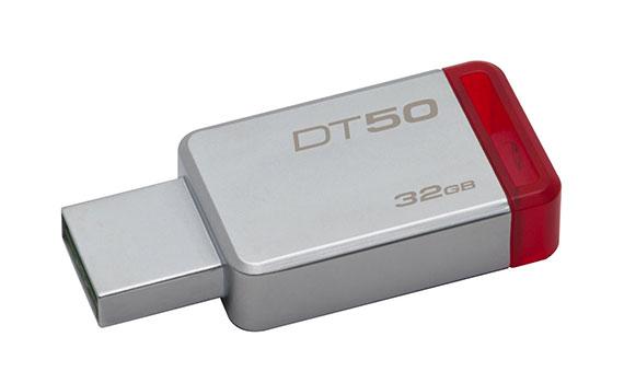 USB Kingston 32GB DT50 màu trắng đỏ thiết kế nhỏ gọn
