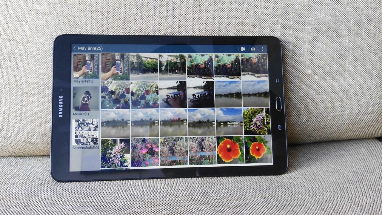 Với kích thước lên đến 9.6 inch, Galaxy Tab E đem đến không gian trải nghiệm rất tuyệt vời