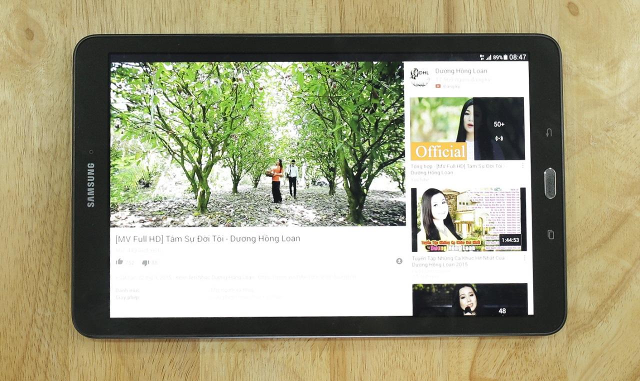 Galaxy Tab E trang bị màn hình lớn lên đến 9.6 inch