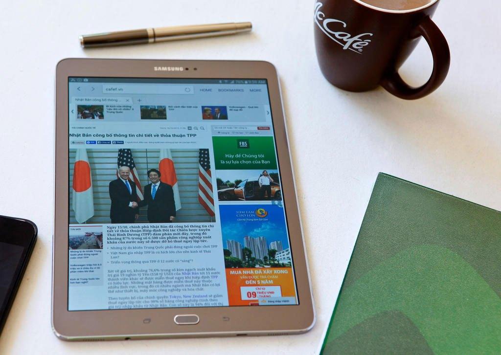 Máy tính bảng Samsung Galaxy Tab S2 màn hình 9.7 inches hiển thị sắc nét