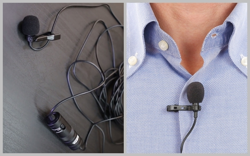 Kết nối điện thoại với Lavalier microphone