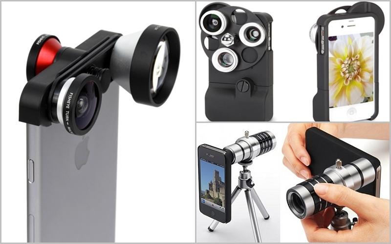 Ống kính phụ trợ tạo vẻ chuyên nghiệp cho chiếc iPhone
