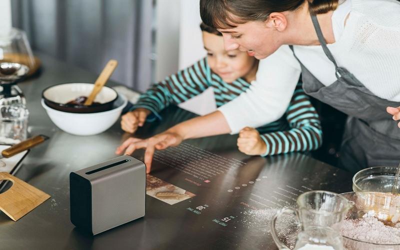 Màn hình trở thành cuốn sổ hướng dẫn nấu ăn điện tử