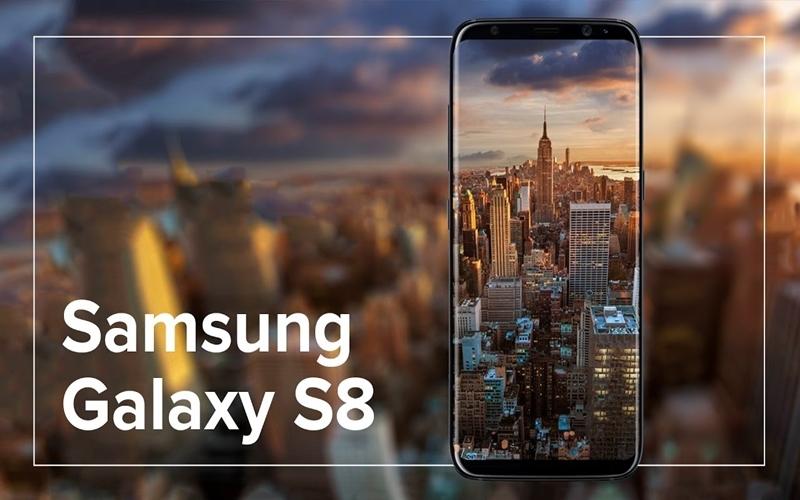 Thiết kế màn hình hiển thị vô cực trên Samsung Galaxy S8