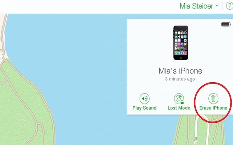 Đặt chế độ Erase iPhone cho điện thoại thông minh