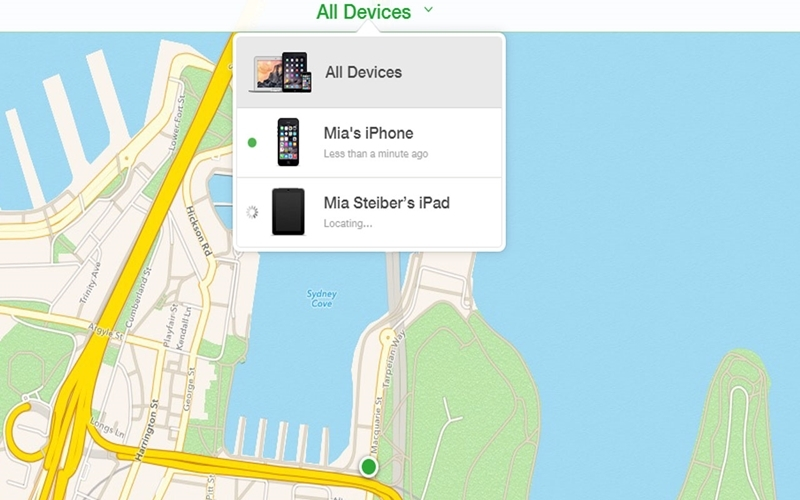 Chọn thiết bị liên kết với tài khoản Apple ID
