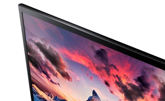 Thiết kế màn hình vi tính Samsung LS24F350FHEXXV siêu mỏng.