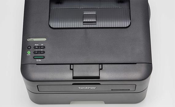 Máy in laser Brother HL-L2361DN thiết kế gọn, bảng điều khiển ở mặt trên dễ sử dụng
