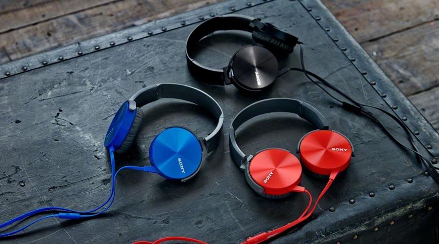 Tai nghe Sony MDR-XB450AP xanh có công nghệ Extra Bass