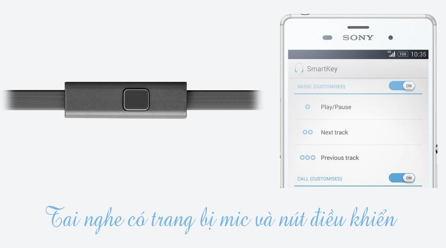 Tai nghe Sony MDR-XB450AP xanh tương thích với các smartphone