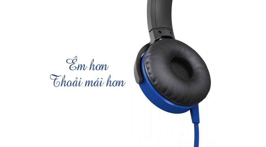 Tai nghe Sony MDR-XB450AP xanh nghe nhạc hay hơn