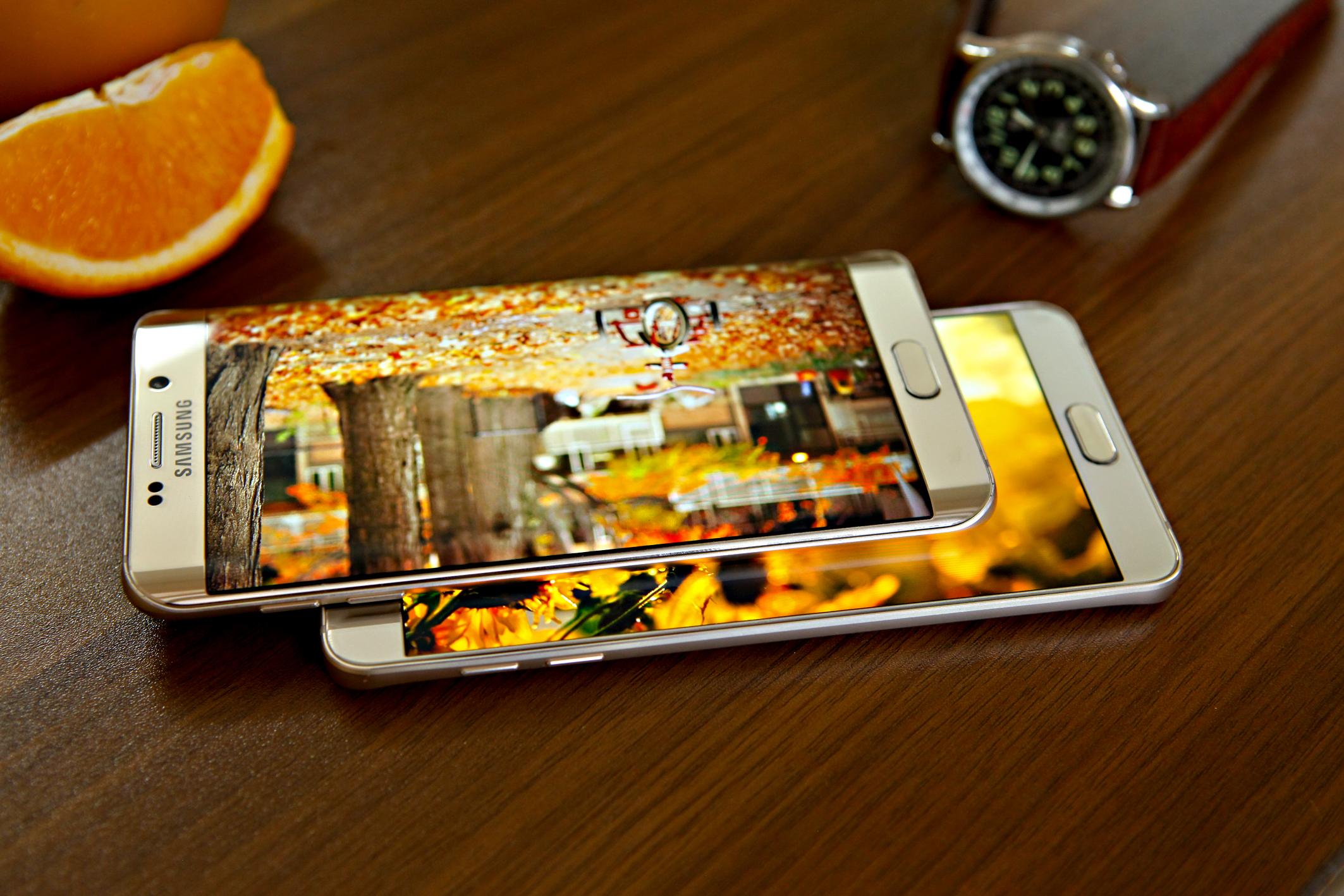 Diện mạo Galaxy S6 Edge Plus và Note 5 cá tính từng góc cạnh