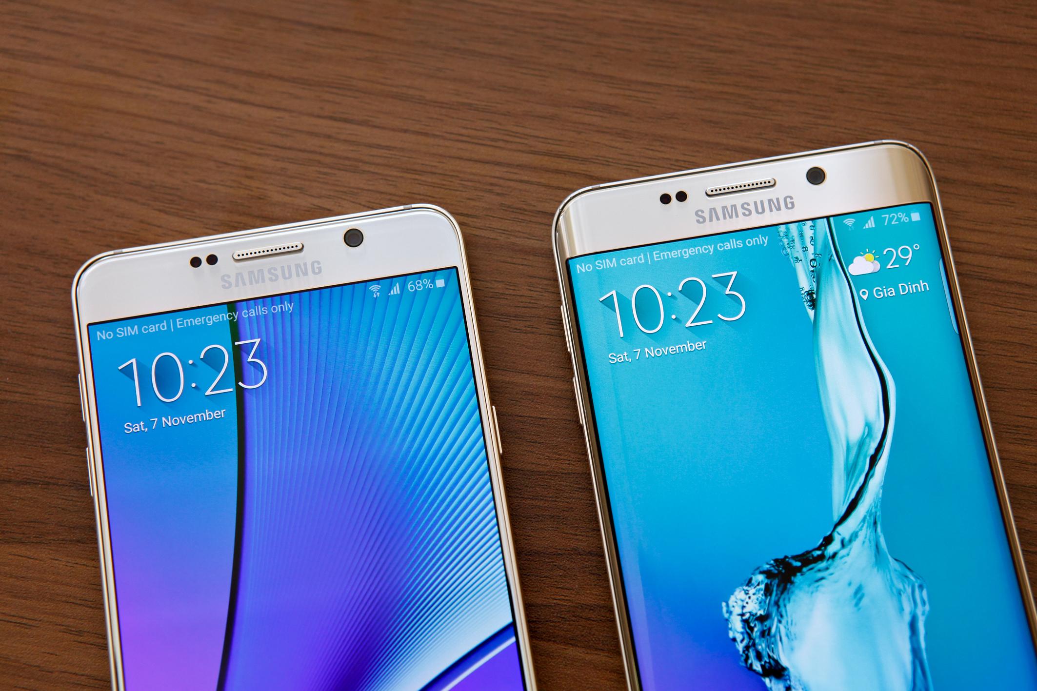 Diện mạo Galaxy S6 Edge Plus và Note 5 sắc nét
