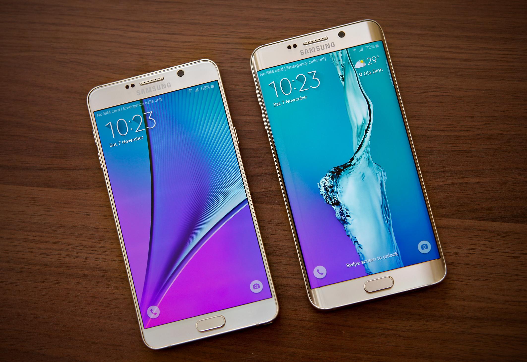 Diện mạo Galaxy S6 Edge Plus và Note 5 khác biệt mà thống nhất