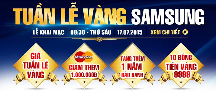 Tuần lễ vàng Samsung ưu đãi giá hấp dẫn