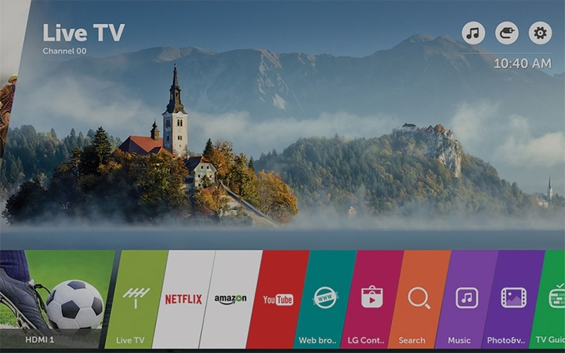 Hệ điều hành webOS 3.5 của TV LG