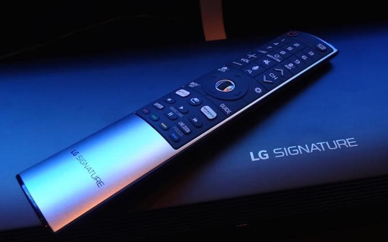Chiếc remote có thể dùng như con chuột để điều khiển tivi