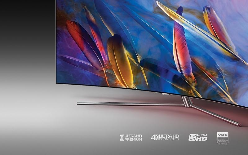 Tivi QLED Q7C sở hữu thiết kế tinh tế, sang trọng