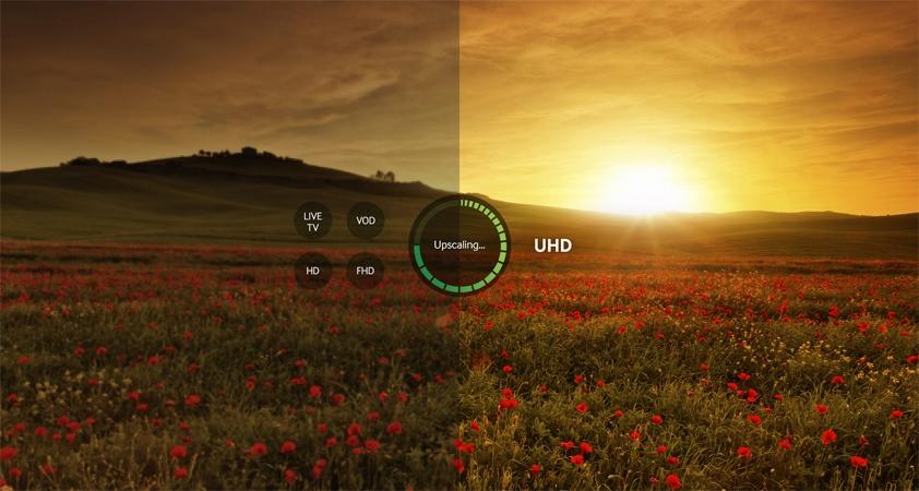 Tivi UHD Samsung UA70KU6000 nâng cấp hình ảnh lên chuẩn UHD