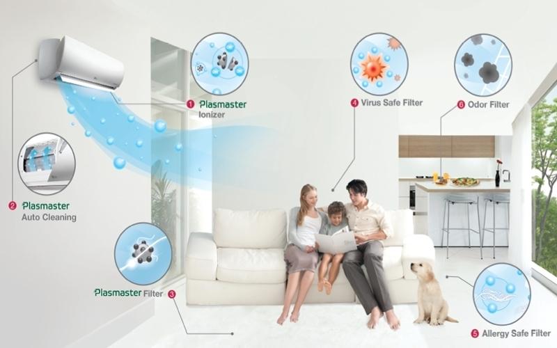 Máy lạnh Toshiba tạo không khí trong sạch cho gia đình bạn