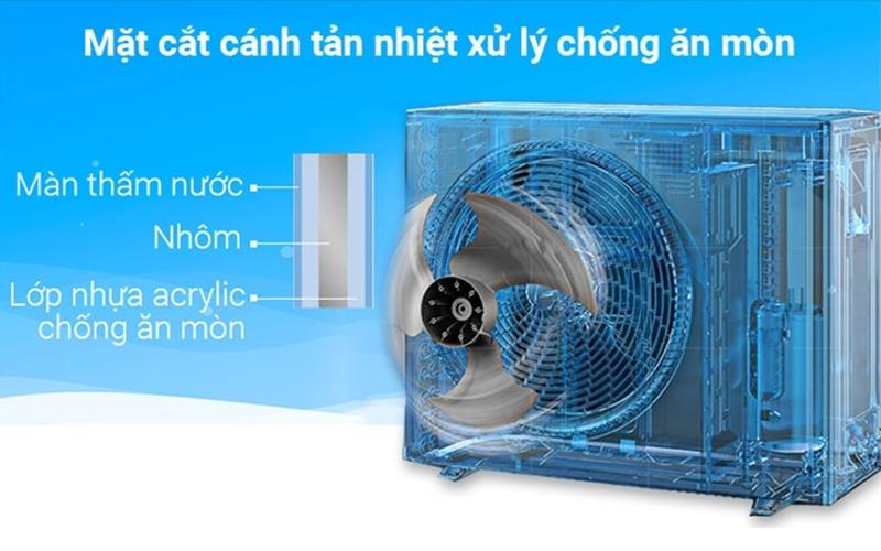 Cánh quạt tản nhiệt Daikin giúp tiết kiệm chi phí sửa chữa