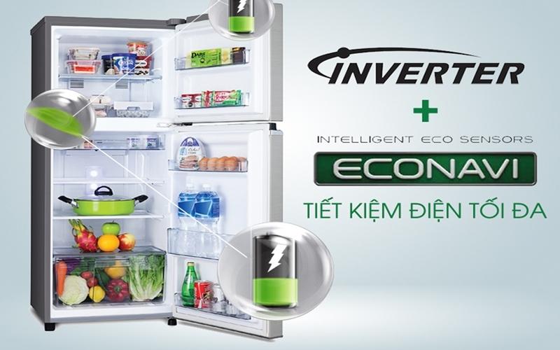 Tủ lạnh Panasonic trang bị Inverter cùng cảm biến Econavi