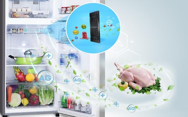 Tinh thể Ag+ vô hiệu hóa vi khuẩn cho tủ lạnh