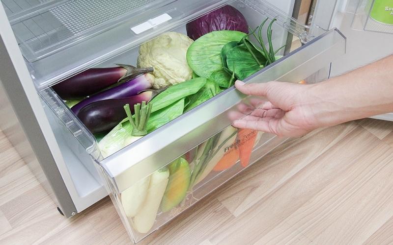 Tủ lạnh có ngăn chứa rau quả rộng rãi