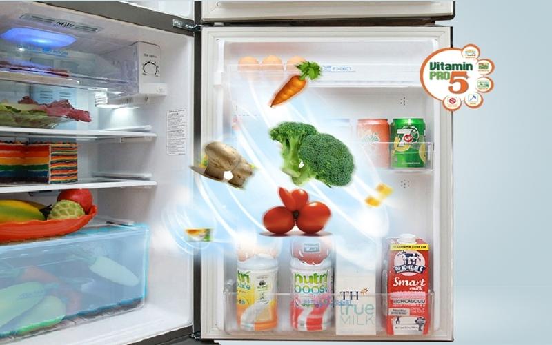 Hệ thống tủ lạnh cung cấp Vitamin Pro 5+ giữ ẩm thực phẩm