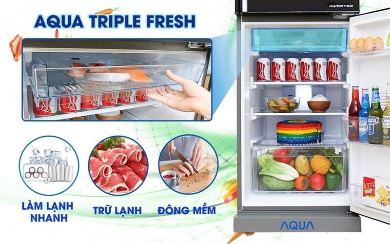 Ngăn trữ lạnh đa năng Aqua Triple Fresh