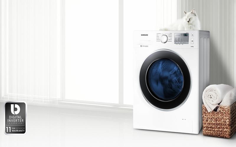 Máy giặt có thiết kế sang trọng và đầy tinh tế