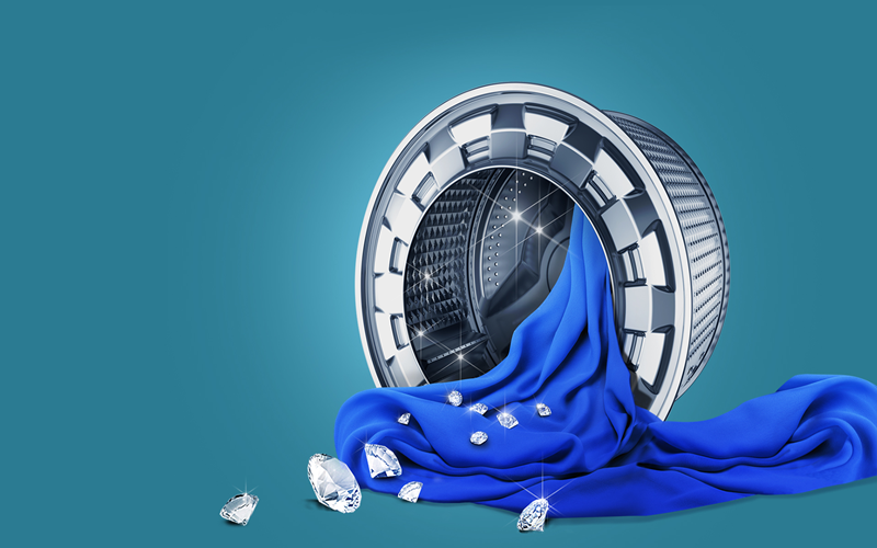 Với lồng giặt kim cương đảm bảo không gây hư hại cho quần áo