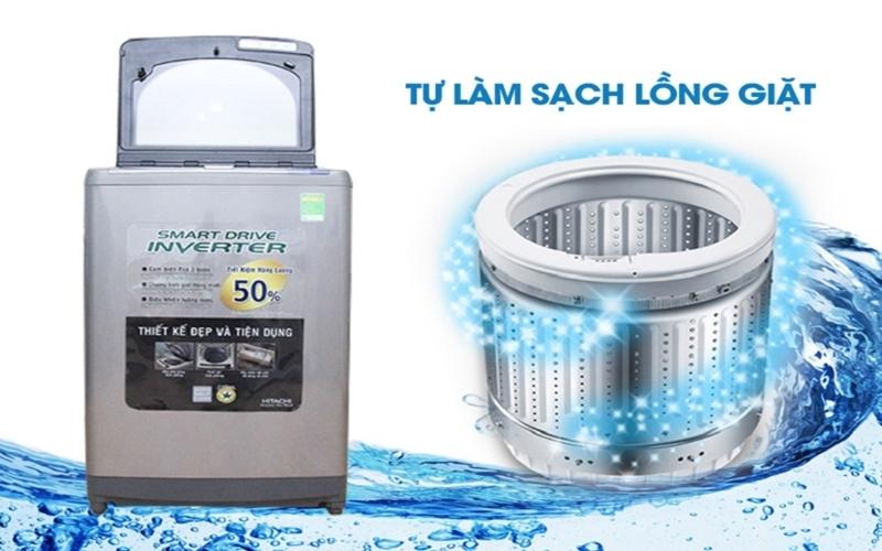 Và công nghệ tự làm sạch lồng giặt tiết kiệm thời gian vệ sinh cho bạn và gia đình
