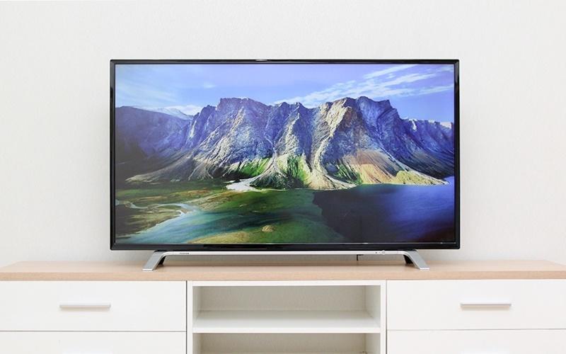 tivi Toshiba có đường nét tinh tế thanh lịch