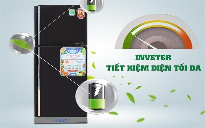 Không lo hóa đơn tiền điện cùng tủ lạnh Inverter Aqua AQR - I226BN