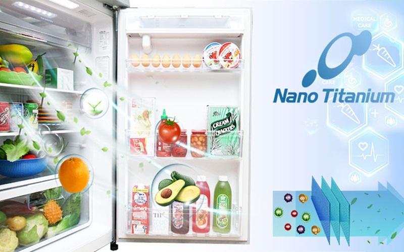 Khử mùi hôi, lọc sạch không khí  với công nghệ Nano Titanium của tủ lạnh Hitachi