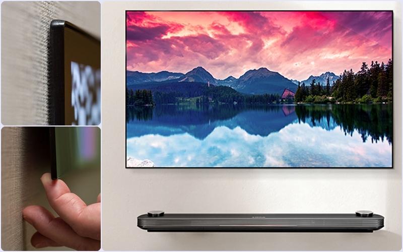 Tivi LG Signature OLED W mỏng nhất thế giới