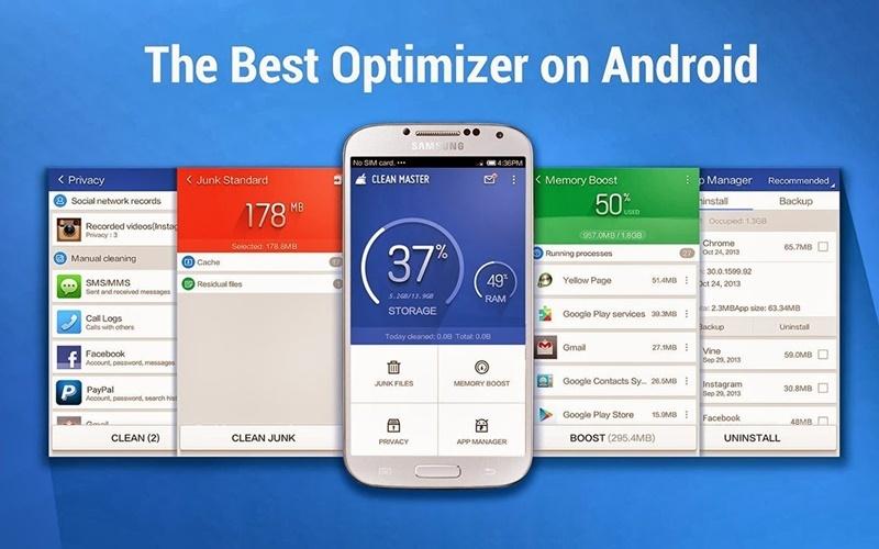 Ứng dụng Clean Master giúp tắt các ứng dụng chạy ngầm