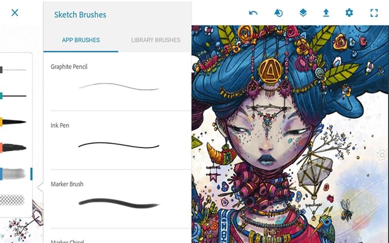 Cài đặt Adobe Photoshop Sketch hoàn toàn miễn phí trên Ipad