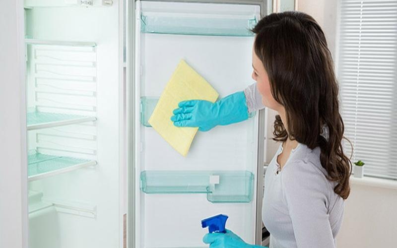 Vệ sinh thường xuyên là điều rất cần thiết cho tủ lạnh luôn sạch sẽ và thơm tho