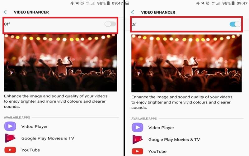Video Enhance cho hình ảnh chất lượng và âm thanh rõ ràng